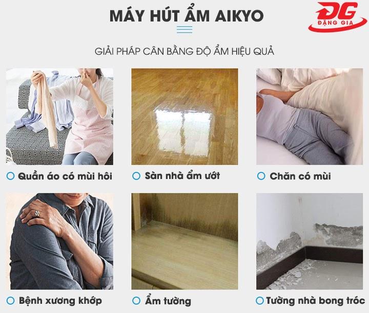 Máy hút ẩm Aikyo giải quyết các vấn đề về độ ẩm trong gia đình bạn