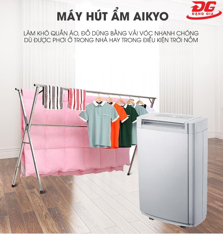 Máy hút ẩm Aikyo dùng để làm khô quần áo hiệu quả