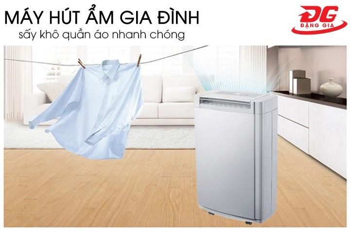 Máy hút ẩm mini dễ dàng giải quyết nỗi lo quần áo ẩm mốc