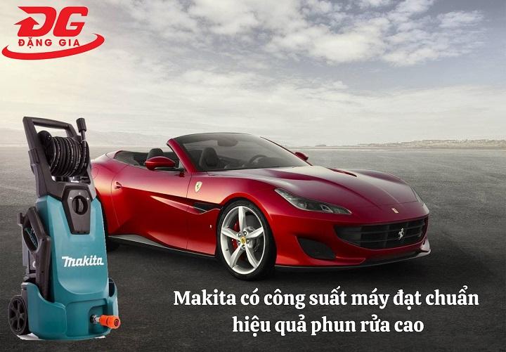 Makita có công suất đạt chuẩn, hiệu suất phun rửa cao