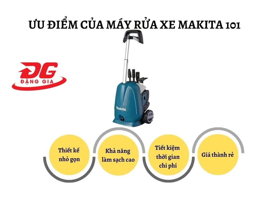 Ưu điểm của máy rửa xe Makita 101