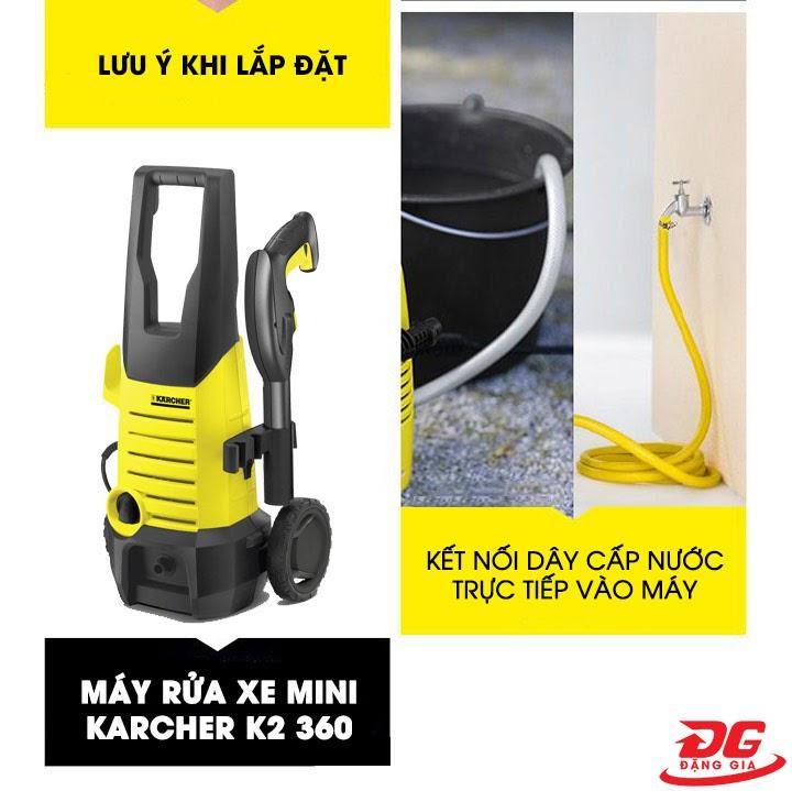 Cách lắp đặt máy rửa xe Karcher K2 360