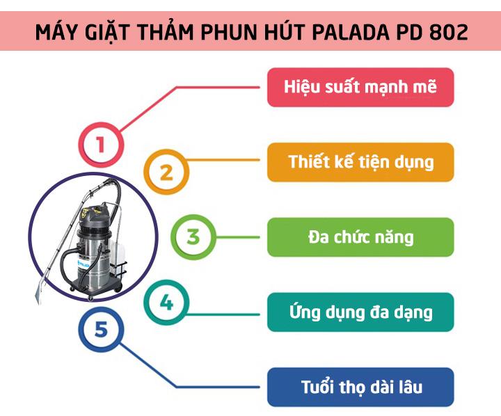 máy giặt thảm công nghiệp palada PD-802