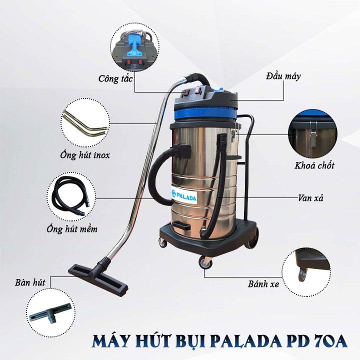 máy hút bụi công suất lớn Palada PD70A