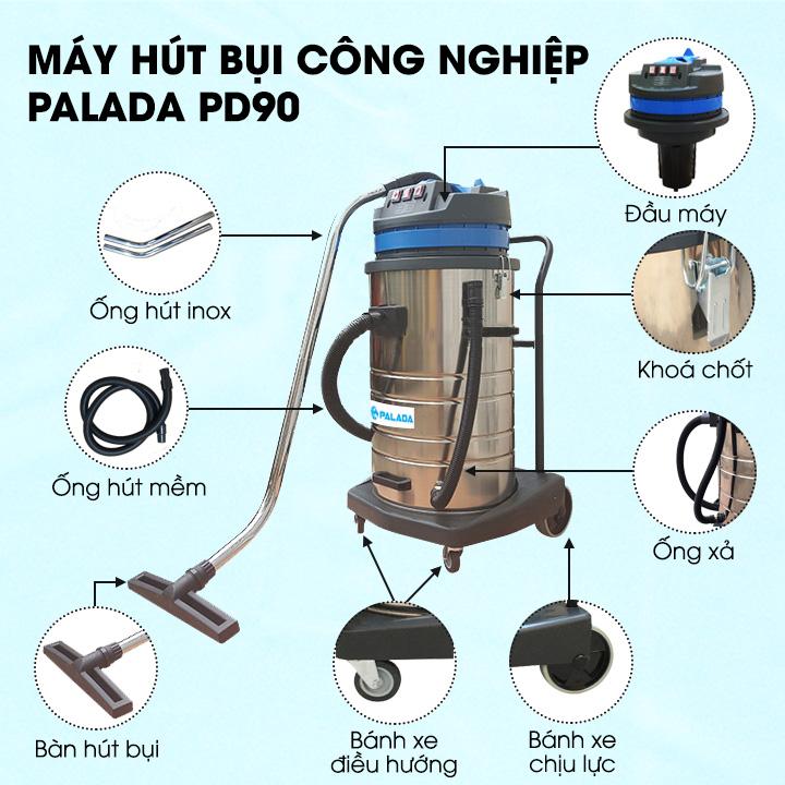 cấu tạo máy hút bụi Palada PD90