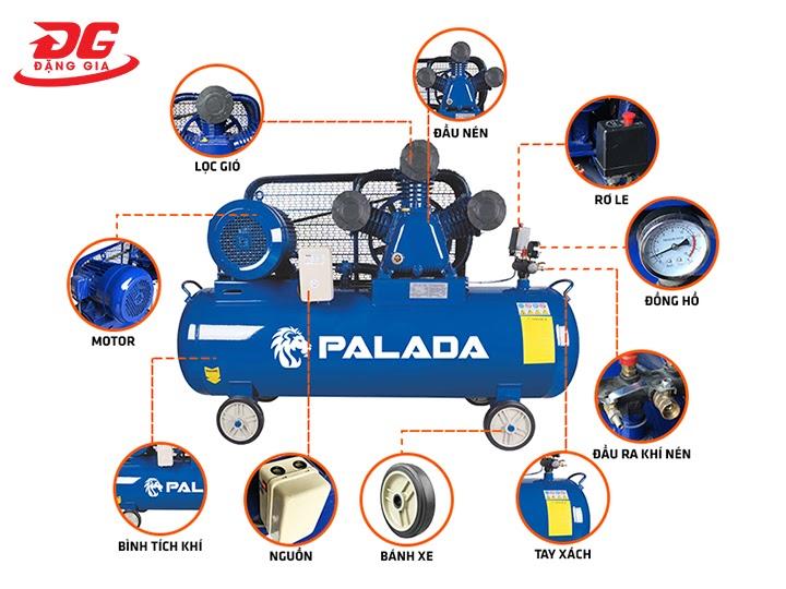 cấu tạo máy nén khí Palada