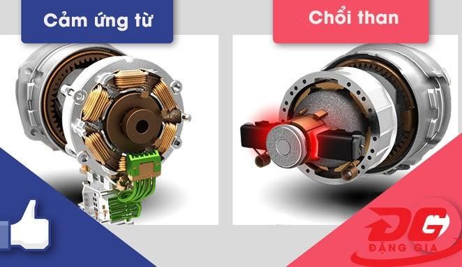 mua máy rửa xe motor cảm ứng từ hay chổi than