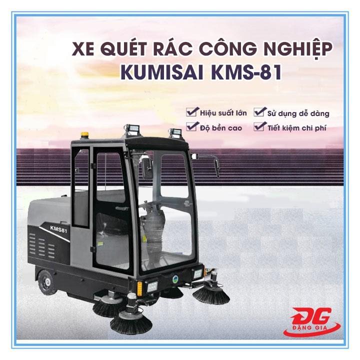 xe quét rác công nghiệp kumisai kms-81