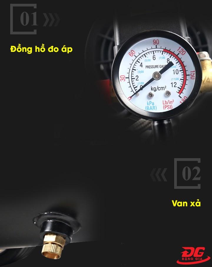đồng hồ đo áp của máy nén khí mini