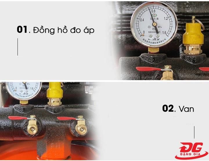 Đồng hồ đo áp của máy nén khí piston