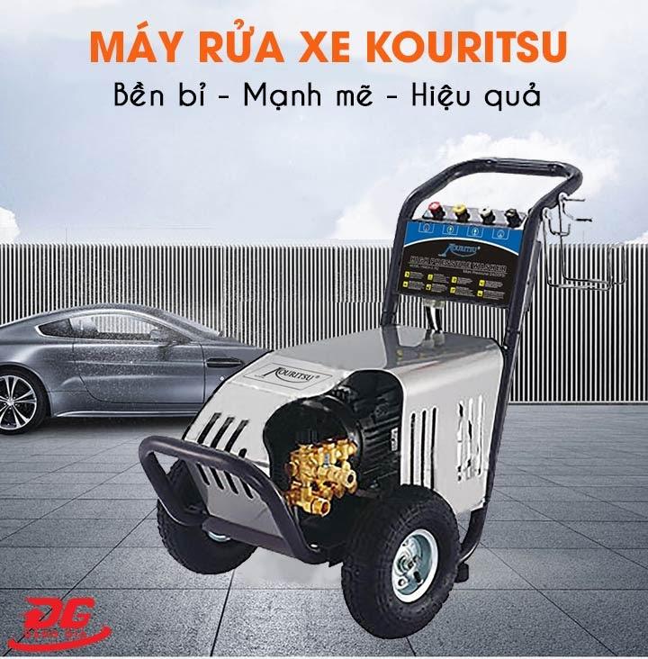 Máy rửa xe Kouritsu có chất lượng tốt nên ngày càng được sử dụng rộng rãi