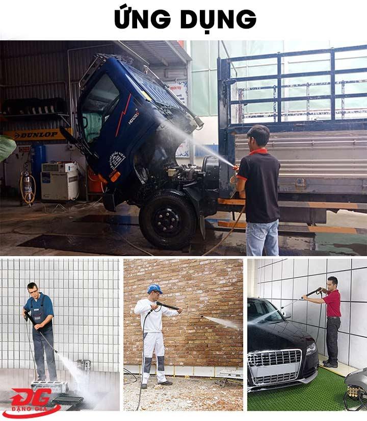 Máy xịt rửa xe Kouritsu có thể ứng dụng đa dạng trong nhiều công việc