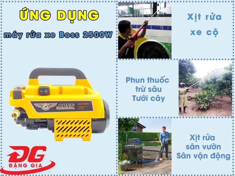 Ứng dụng máy rửa xe Boss Nhật 2500w