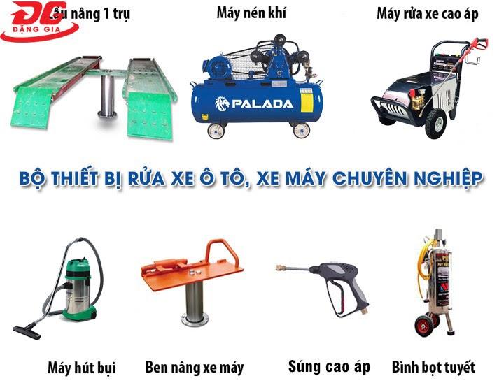 Bộ thiết bị rửa xe oto, xe máy chuyên nghiệp