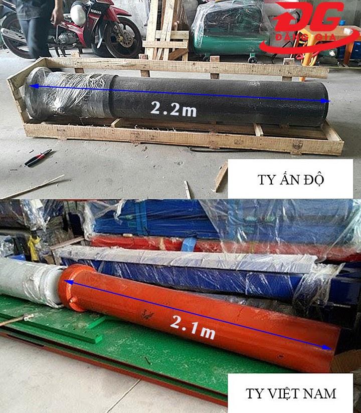 Kích thước ty nâng của cầu nâng 1 trụ Ấn Độ và Việt Nam
