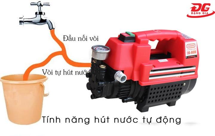 Khả năng hút nước tự động của máy rửa xe Oshima
