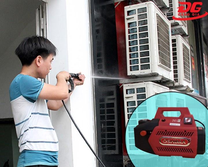 Máy rửa xe Oshima xịt rửa máy lạnh