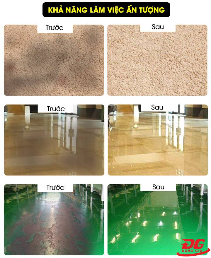 Hiệu quả sử dụng máy chà sàn Kumisai