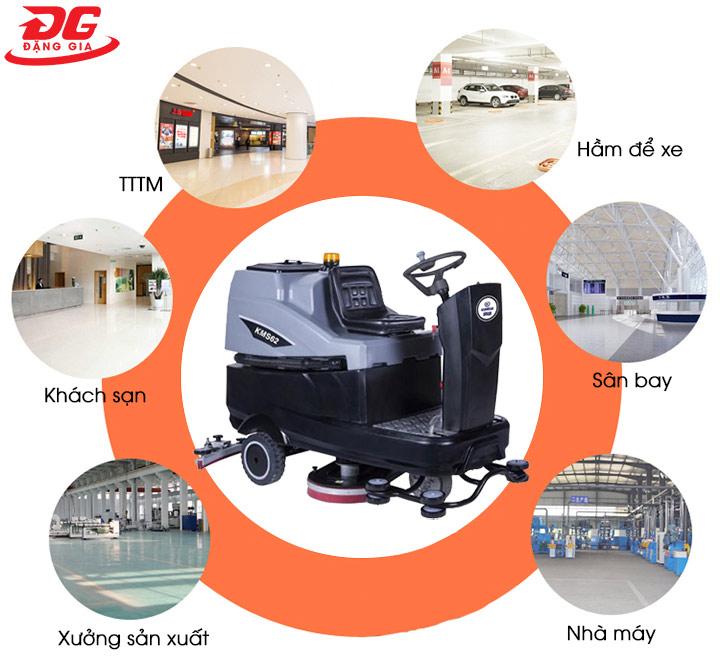ứng dụng của máy chà sàn Kumisai