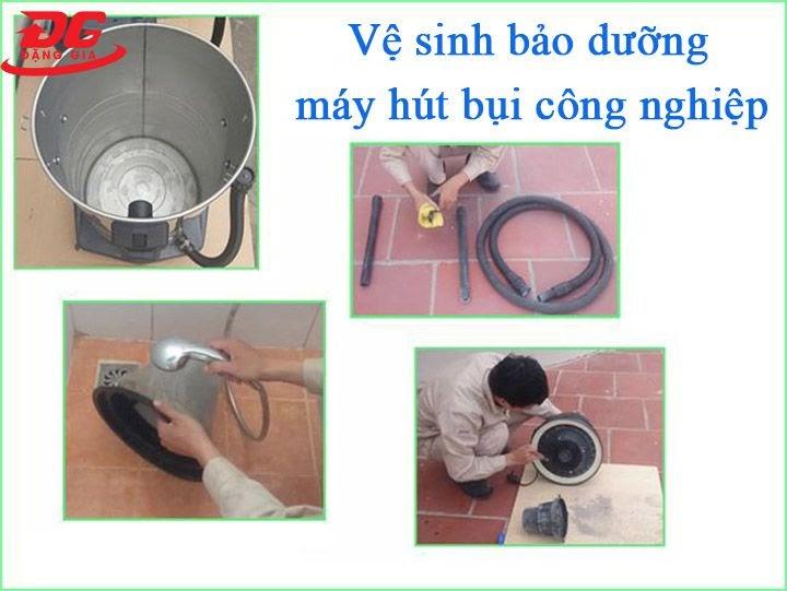 vệ sinh, bảo dưỡng máy hút bụi công nghiệp thường xuyên