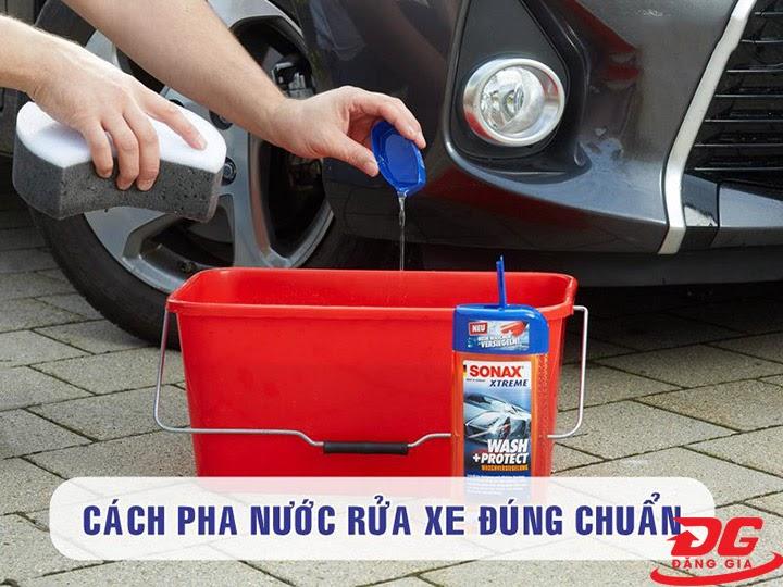 Cách pha dung dịch rửa xe Sonax