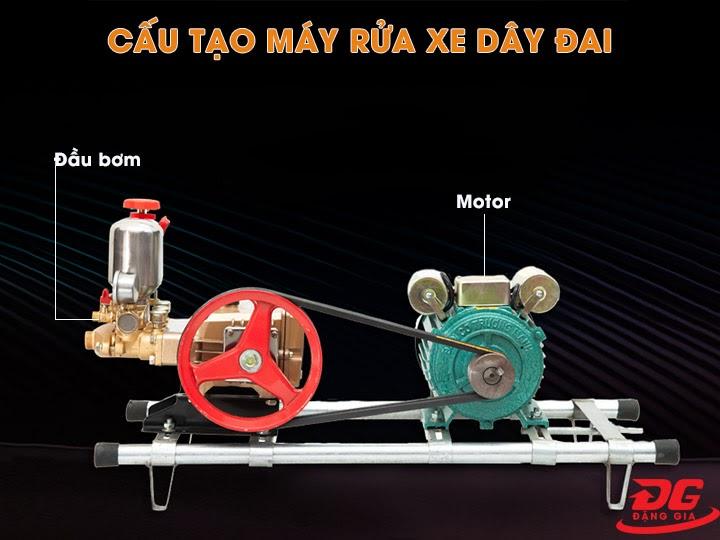 Cấu tạo máy rửa xe dây đai