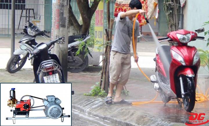 Vận hành máy rửa xe dây đai