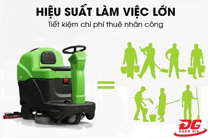 hiệu quả sử dụng máy chà sàn ngồi lái