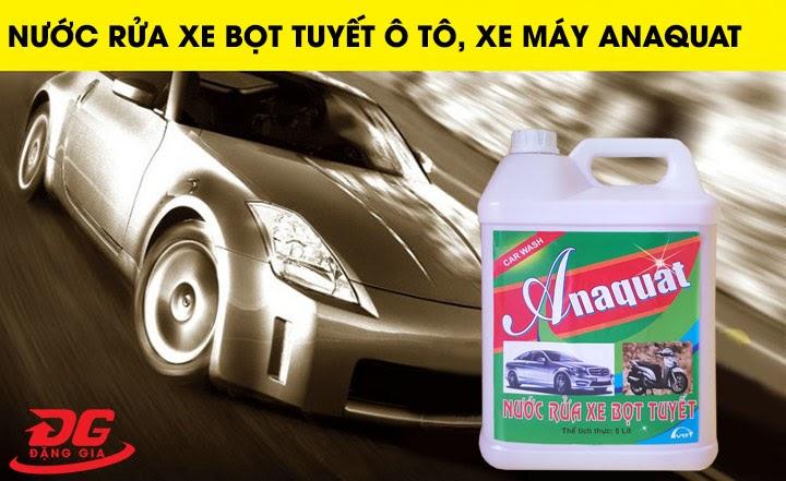 Nước rửa xe Anaquat cho hiệu quả làm sạch