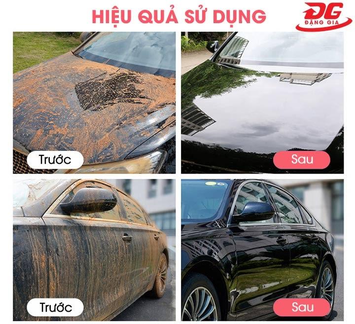 Nước rửa xe Kumisai trước và sau khi sử dụng