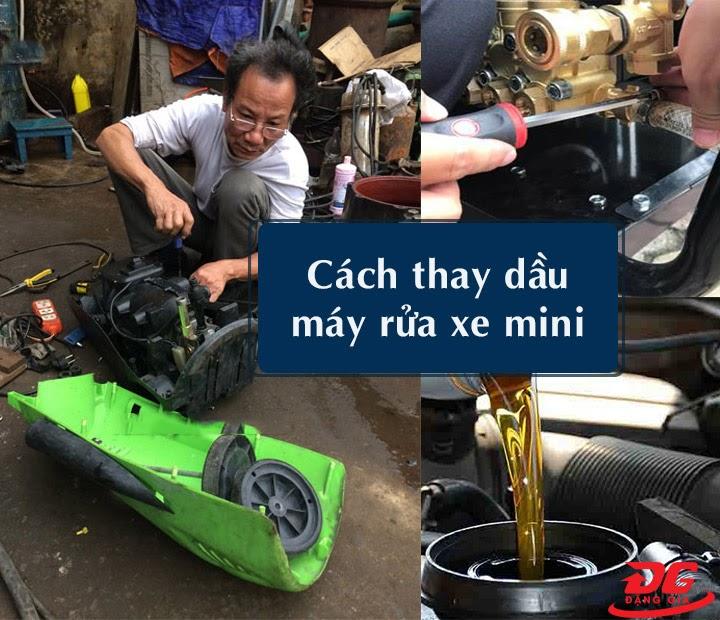 Cách thay dầu máy rửa xe mini