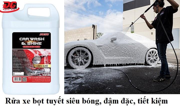 Hiệu quả của nước rửa xe bọt tuyết