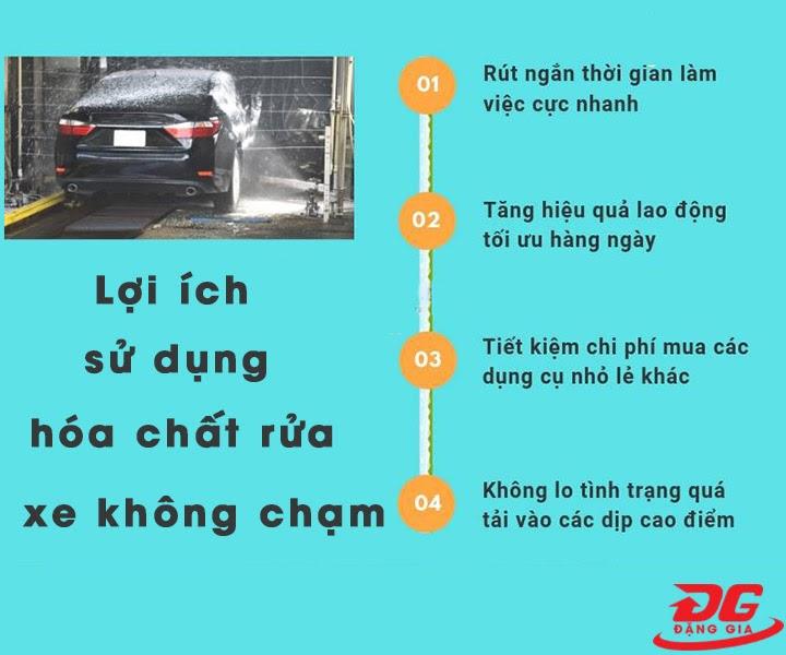 Lợi ích khi sử dụng hóa chất rửa xe không chạm