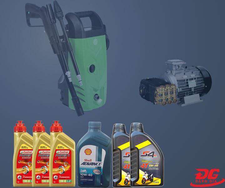 Một số loại dầu dùng cho máy rửa xe gia đình