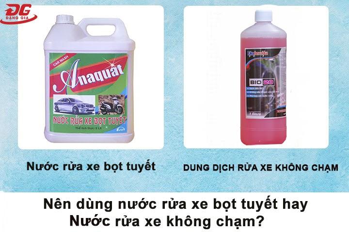 Rửa xe bọt tuyết hoặc rửa xe không chạm