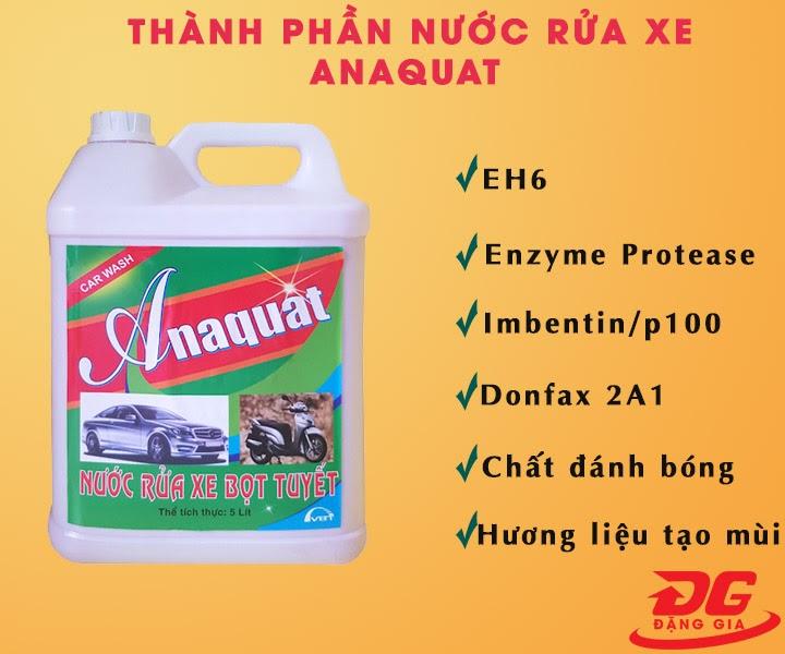 Thành phần nước tẩy rửa Anaquat
