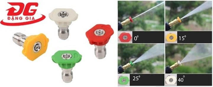 Cách chỉnh áp suất máy rửa xe mini bằng béc phun