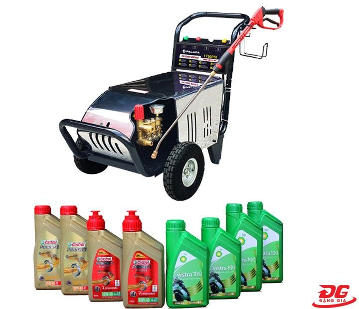 Thay dầu nhớt máy rửa xe định kỳ