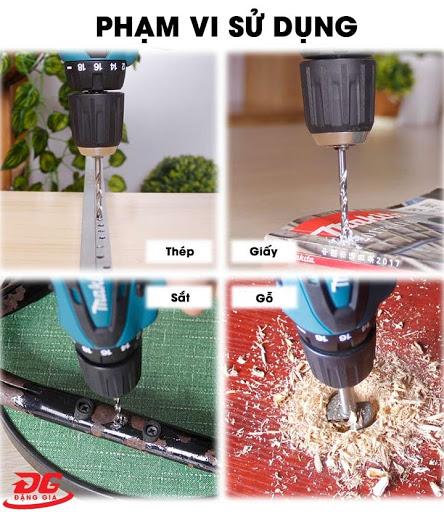 Máy bắn bulông bằng pin được sử dụng trên nhiều vật liệu khác nhau